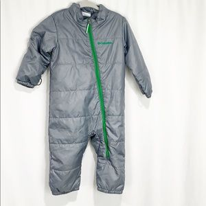 Columbia Gray & Green Snowsuit 12-18 months